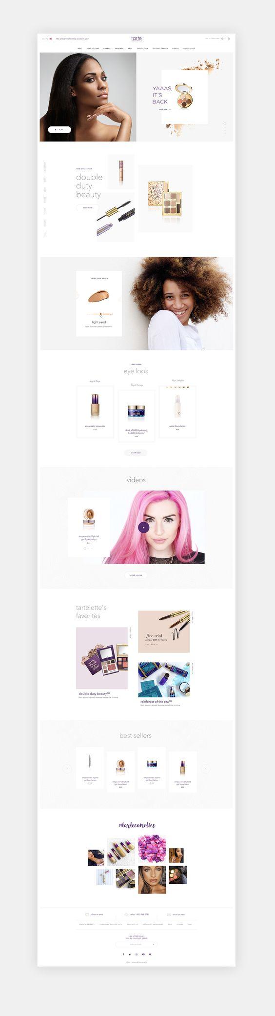 Tarte Cosmetics E-commerce on Behance