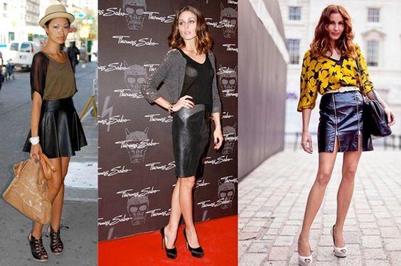 #Faldas #Cuero #Moda #Tendencias #DolceEvita