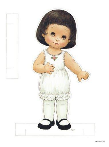 ESPAÇO EDUCAR: Bonequinhas de Papel! Paper dolls par recortar e montar!