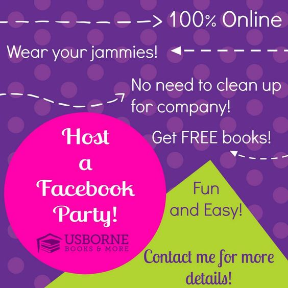 Usborne Facebook parties are fast, fun, and easy! And who doesn't love free books?! N4540.myubam.com