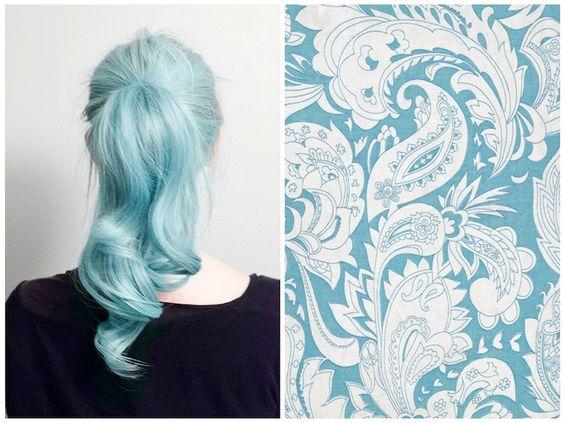 blue hair: