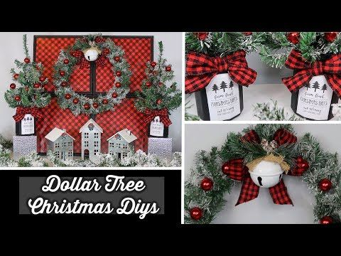 950 Dollar Tree Christmas Diys Buffalo Check Themed Youtube Dollar Tree Christmas Decor Dollar Tree Christmas Christmas Diy