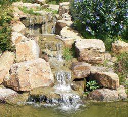 Bachlauf mit Wasserfall | wasser im garten | Pinterest | Bachlauf ...