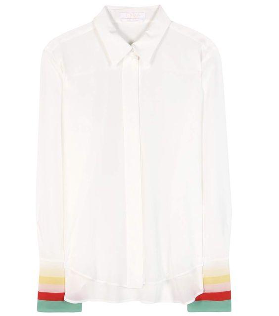 CHLOÉ Silk Georgette Shirt. #chloé #cloth #tops