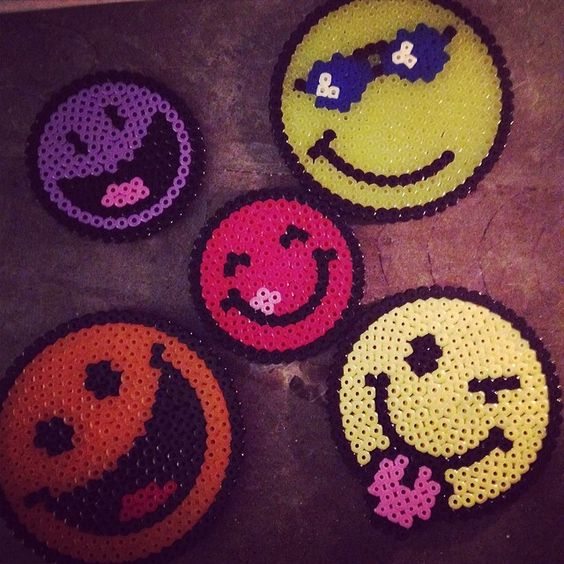 Smiley hama perler by vivibolis