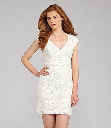 Nurture Empire Waist Lace Dress | Dillards.com