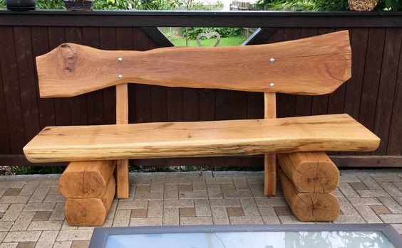 Eiche Holz Gartenbank DIY