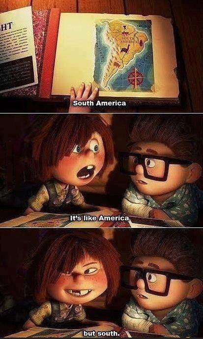"""América do Sul. É tipo a América, só que do sul"" xD"