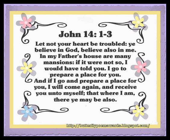 John 14: 1-3 :)