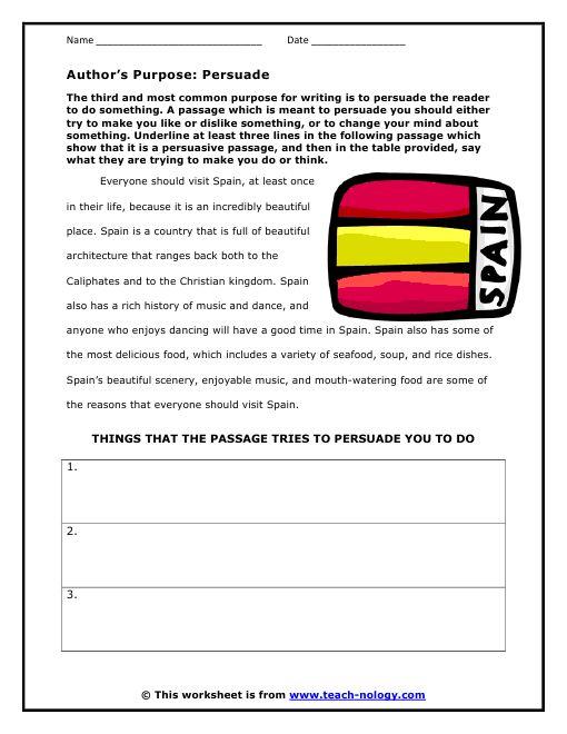 Free Author 39 S Purpose Click To Print 2 Teach