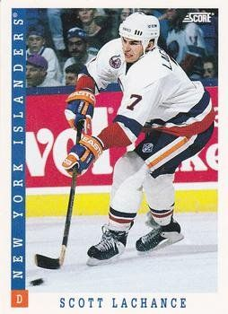 Scott Lachance 1993-94 Score NHL Hockey Card 103 New York Islanders * Details can be found by clicking on the image.