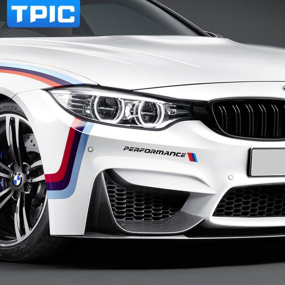 2pc Car Front Sticker Front Bumper Sticker And Decals For Bmw E90 E46 E39 E60 F30 F10 F34 X3 X4 X5 E70 F15 X6 M3 M5 Car Styling