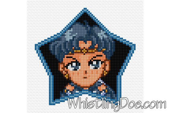 Sailor Star Fighter Cross Stitch Pattern