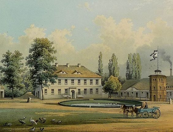 SELLENDORF - Rittergut - Duncker - Farblithografie 1873