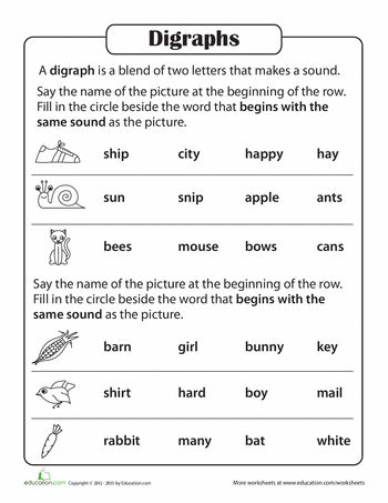 Printables Phonics Practice Worksheets phonics practice test blends and digraphs articles worksheets digraphs