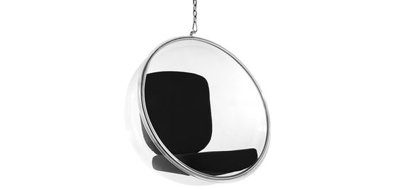 Fauteuil suspendu Bubble Chair - Style Eero Aarnio - Tissu