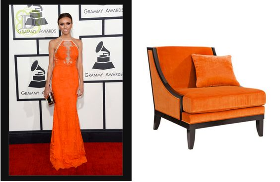 Guiliana Rancic in Alex Perry and Marina B or the classic yet edgy SELVA …. this one is close #whoworeitbetter #grammys2014