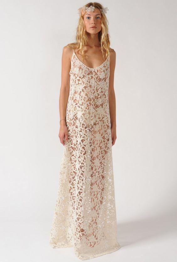 Beach wedding white lace maxi dress roupas pinterest for Maxi dress for beach wedding