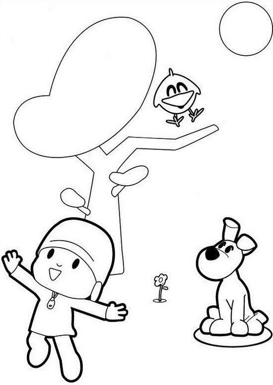 Pocoyo Cartoon Coloring Sheet For Kids Free Kids Coloring Pages Coloring Pages Pocoyo