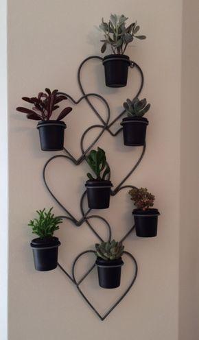 Soportes Para Colgar Macetas En La Pared Succulents Displayed In A Wall Hanging Candle Voltive Holder
