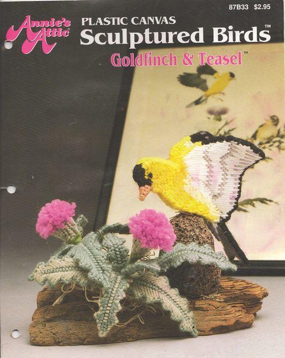 Sculptured BIRDS Goldfinch & Teasel FC