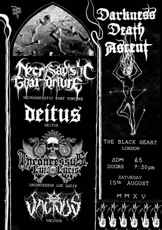 DARKNESS, DEATH, ASCENT The Black Heart London