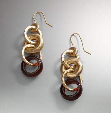 Tortoiseshell Link Earrings - Kenneth Cole