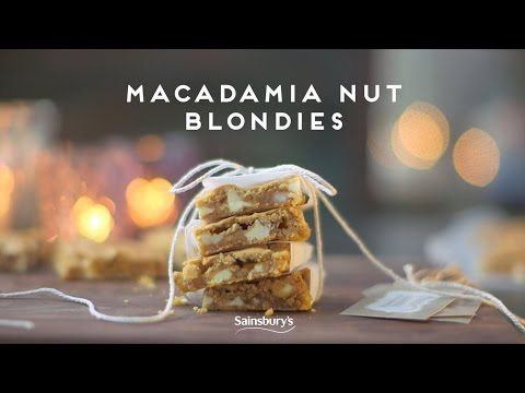Macadamia Nut Blondies | Edible Gifts - YouTube