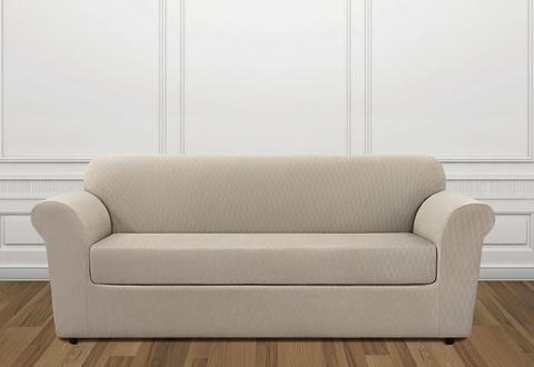Stretch Lattice Two Piece Sofa Slipcover In 2020 Sofa Sofa