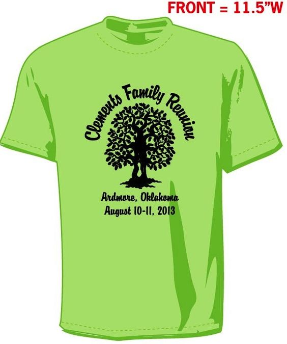 Family reunion t shirts orders for screen printing for Order screen printed shirts