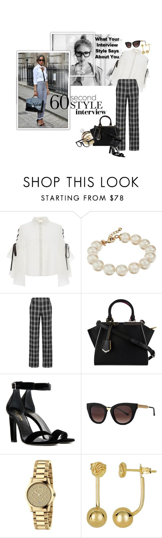 """""""60-Second Style: Job Interview"""" by ivyargmagno ❤ liked on Polyvore featuring Chanel, Jonathan Simkhai, Kate Spade, Proenza Schouler, Fendi, Yves Saint Laurent, Thierry Lasry, Gucci, jobinterview and 60secondstyle"""