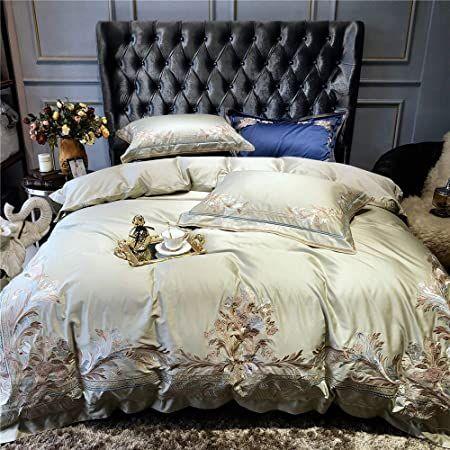 100 Cotton Double Duvet Covers Set Duvet Covers Bedding Set Long Staple Cotton 4 Pieces King Size E Duvet Bedding Sets Queen Bedding Sets Embroidered Bedding