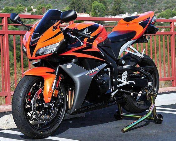 Sweet orange and black CBR 600 RR