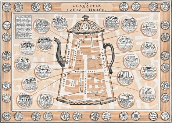 Risultati immagini per enlightenment coffee houses map
