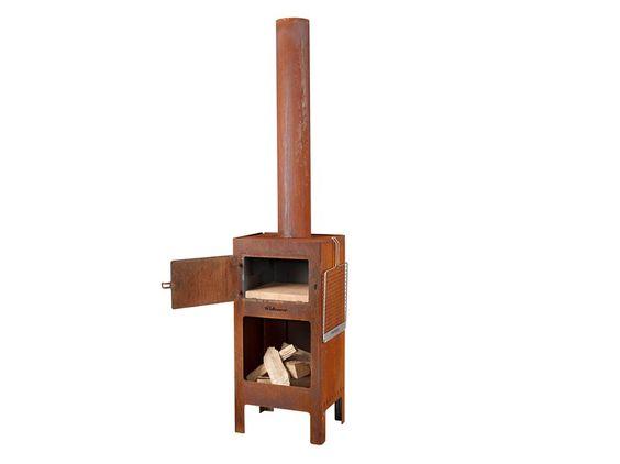 Holz- Backofen aus Corten™ OUTDOOROVEN by Weltevree Design Dick van Hoff