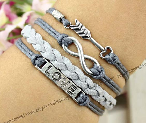 LOVE the arrow  infinity bracelet bracelet  by superbracelet, $4.99