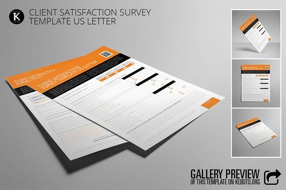 Client Satisfaction Survey Template US Letter from DesignBundles - satisfaction survey