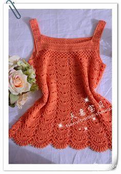Artesanato com amor...by Lu Guimarães: Linda blusa em crochê com gráfico