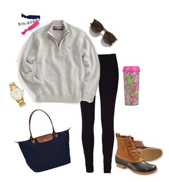 """""""Out and about"""" by parsonsdreamer22 ❤ liked on Polyvore featuring mode, Vineyard Vines, Twistband, Club Monaco, Kate Spade, L.L.Bean, Longchamp en Lilly Pulitzer"""