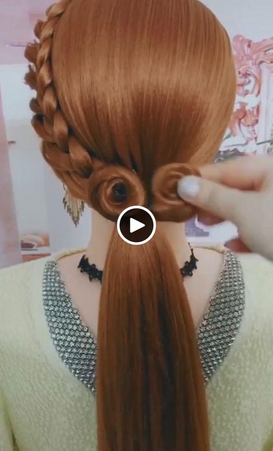 Elegant hairstyles for the bride#hairpeinados #hairpeinadosrecogidos #hairpeinadossuelto