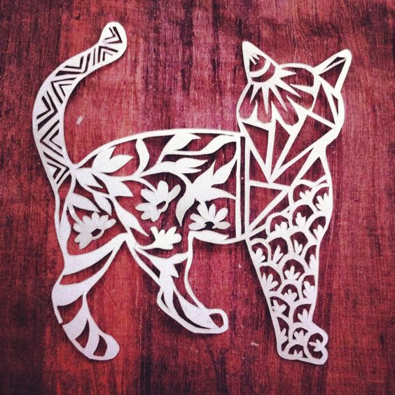 And More Papercutting Cats Cut Paper Paper Cute Ideas Art Ideas