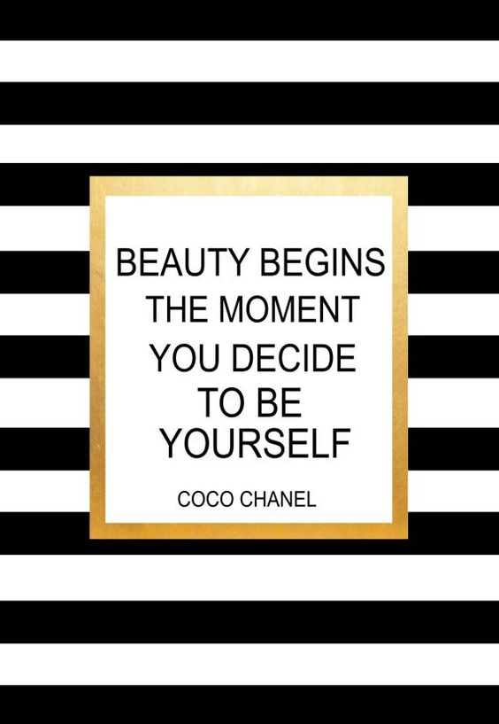 Coco Chanel Quote Beauty Begins The Moment YOu by wordsmithprints
