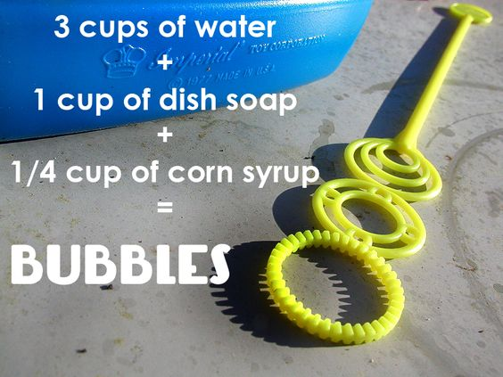 how to make juggle bubbles without corn syrup