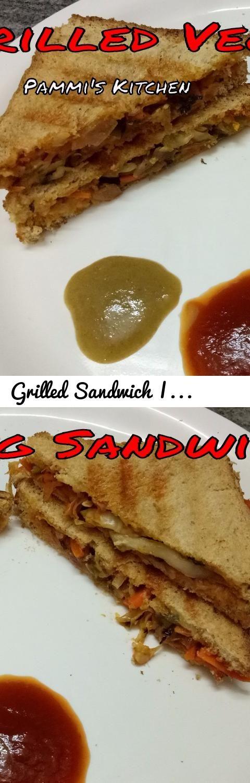 Grilled Sandwich | Grilled Veg Sandwich Recipe | Healthy Grilled Sandwich |  Kids Lunch Box Recipe
