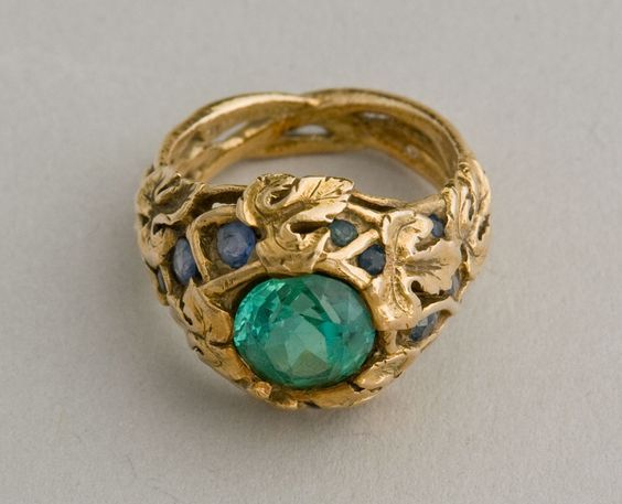 Louis Comfort Tiffany Art Nouveau Ring In 2020 Art Nouveau Jewelry Art Nouveau Ring Jewelry Art