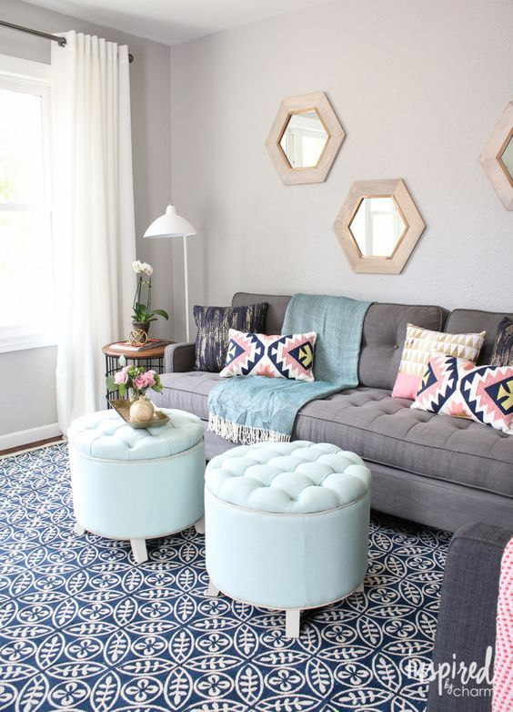 Lowe S Fall Makeover Reveal Ottomans Love The And Coffee