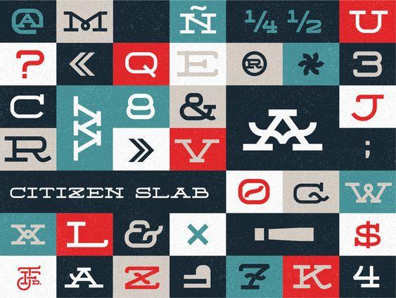 Joel Felix — citizen slab: Graphics Designers, Citizen Slab, Typeface Citizen, Free Fonts Download, Design Typography, Colors Typography, Best Free Fonts