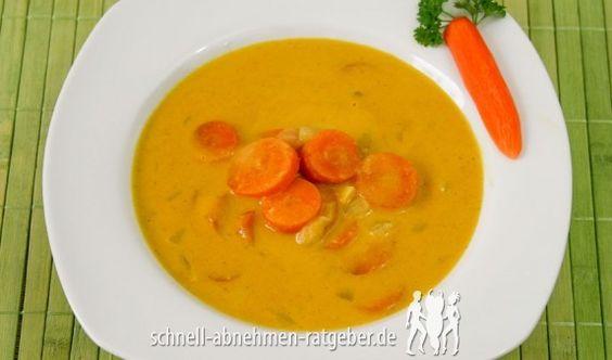 Karottensuppe mit Ingwer und Kokosmilch