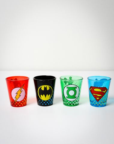 comic shot glasses