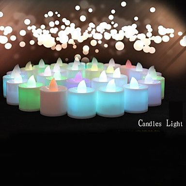 Wedding Décor 24pcs Color-changing Flameless LED Tealight Candles Light Battery for  Birthday Party Decoration – USD $ 16.99